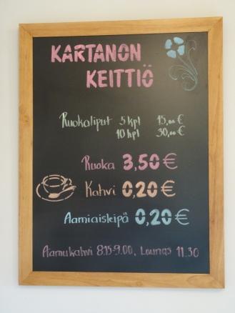 Keittiön hinnasto